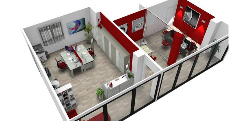 Progettazione e preventivi arredamento ufficio for Arredi archicad