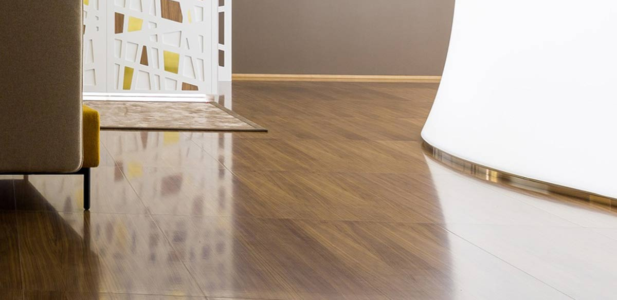 Floating floor finishing materials