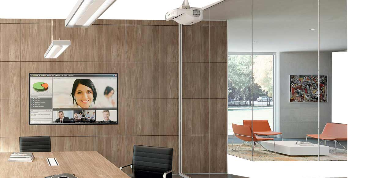 Partitions with melamine panels