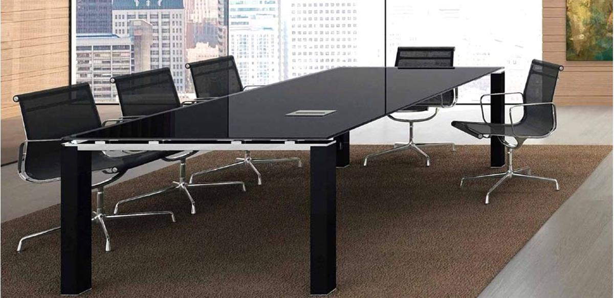 Mobili per ufficio tavolo riunioni vetro cm 240 for Mobili ufficio outlet