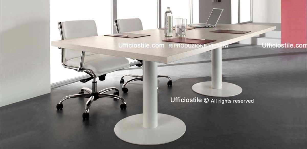 Mobili per ufficio tavolo riunioni cm 240 struttura metallo for Mobili ufficio economici