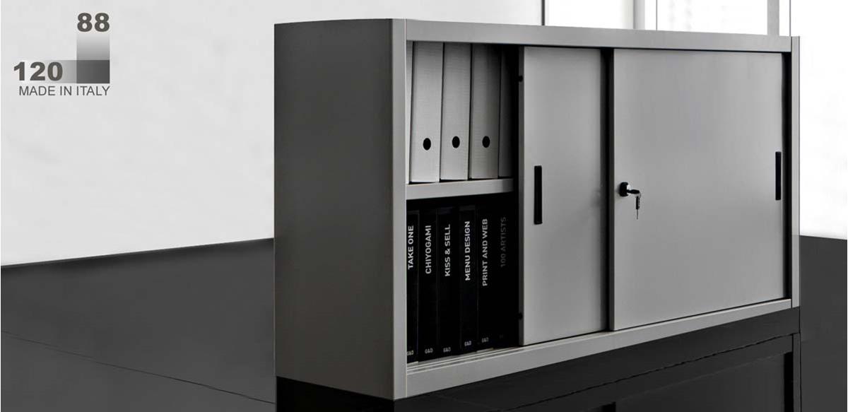 Mobili per ufficio - Armadio metallo cm. 120 x 45 x 88(H)