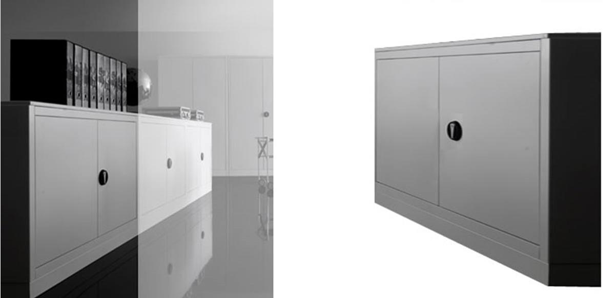 Mobili per ufficio armadio ufficio metallo con ante cm for Armadi x ufficio