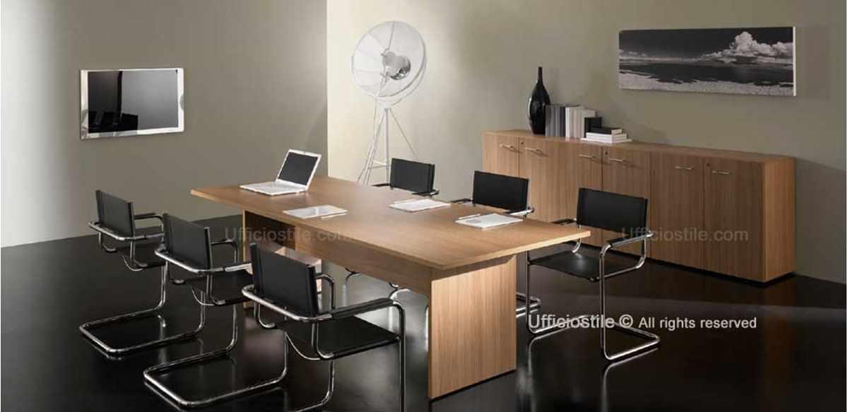 Mobili per ufficio tavolo riunioni cm 240x100 in pronta for Mobili x ufficio economici