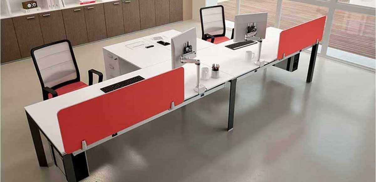 Mobili per ufficio due postazioni di lavoro affiancate for Mobili ufficio outlet
