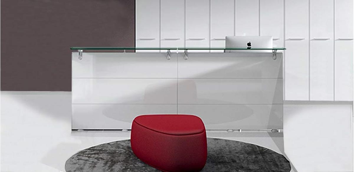 Mobili per ufficio bancone reception lineare cm 280 for Mobili da reception