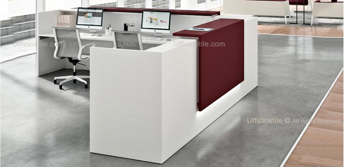 Mobili per ufficio bancone reception angolare cm 323 x 323 for Bancone reception ufficio