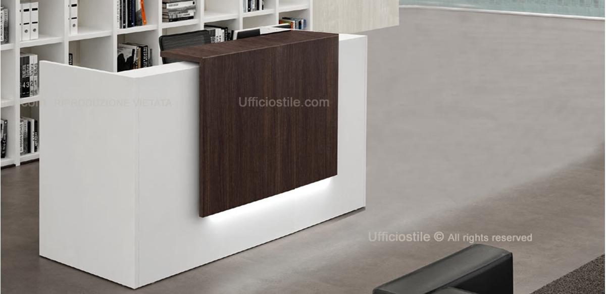 Mobili per ufficio bancone ufficio piccolo cm 166 con for Dimensioni mobili ufficio