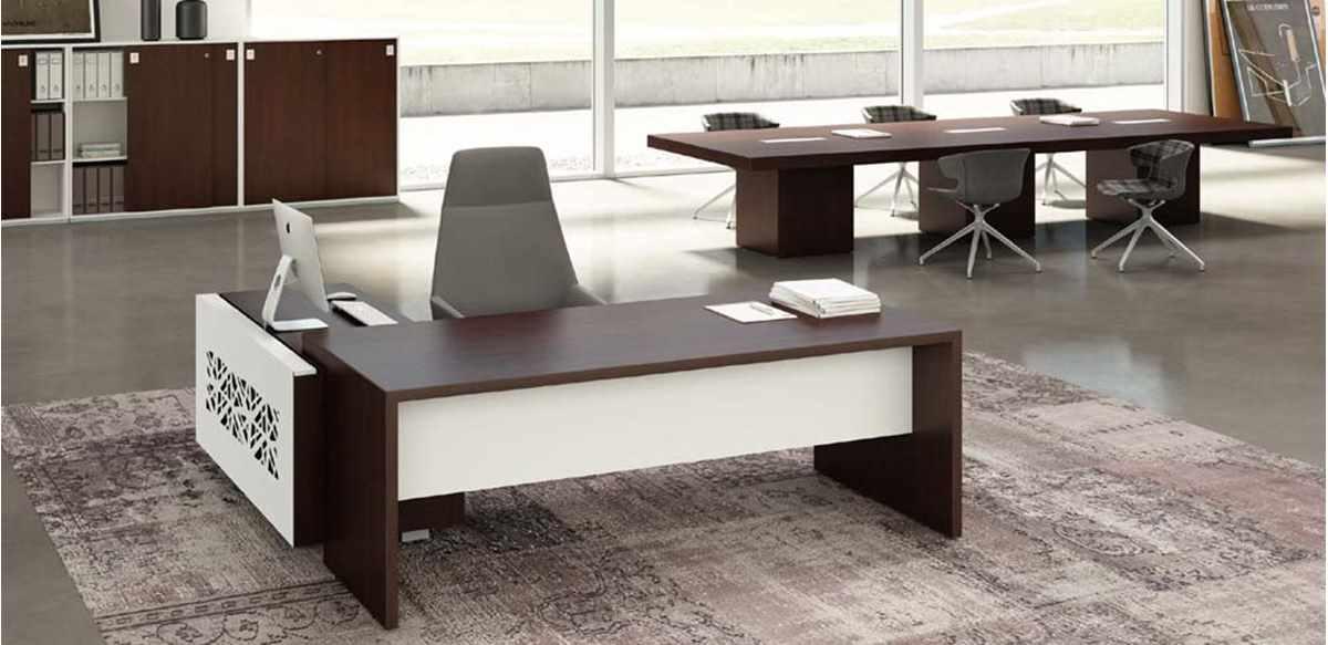 Mobili per ufficio scrivania direzionale con box design for Mobili ufficio outlet