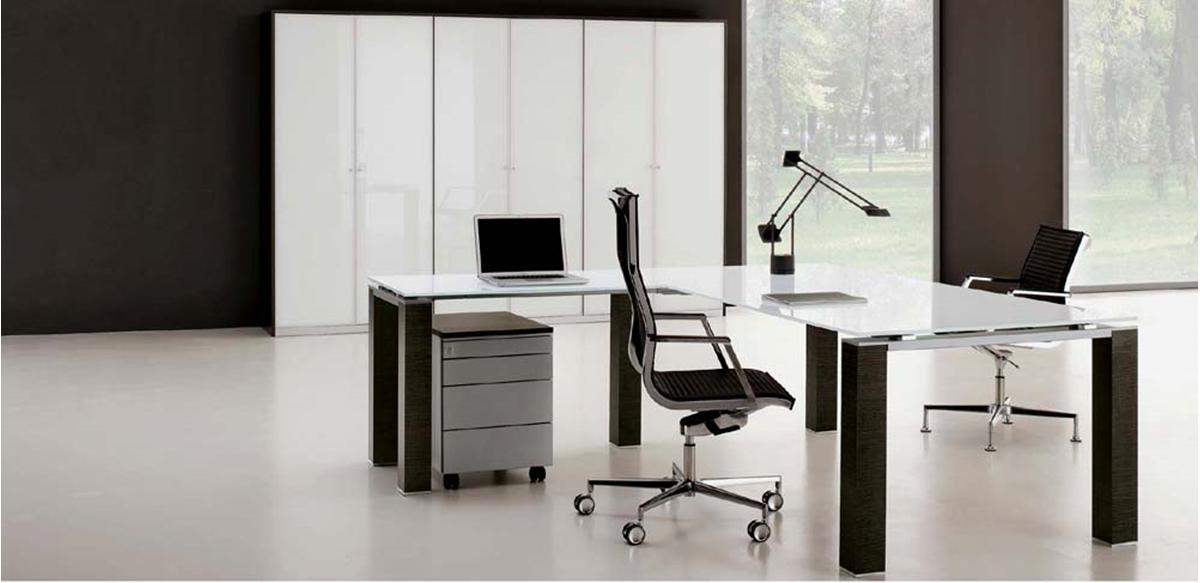 Mobili per ufficio scrivania direzionale con allungo for Vendita mobili design