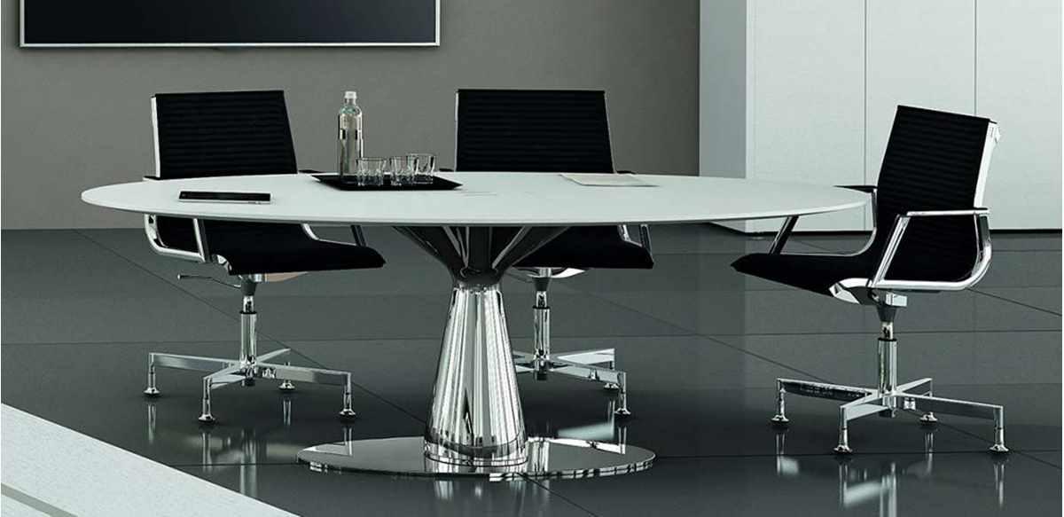 Mobili per ufficio tavolo riunioni ovale di rappresentanza - Tavolo riunioni ovale vetro ...