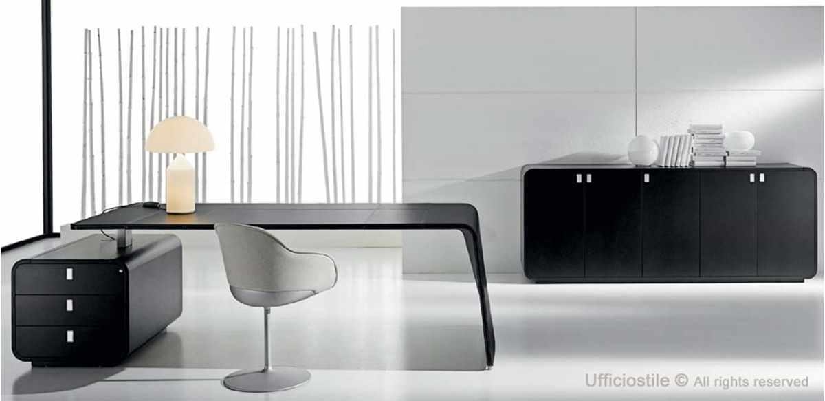 Mobili ufficio design laccato nero for Mobili design ufficio