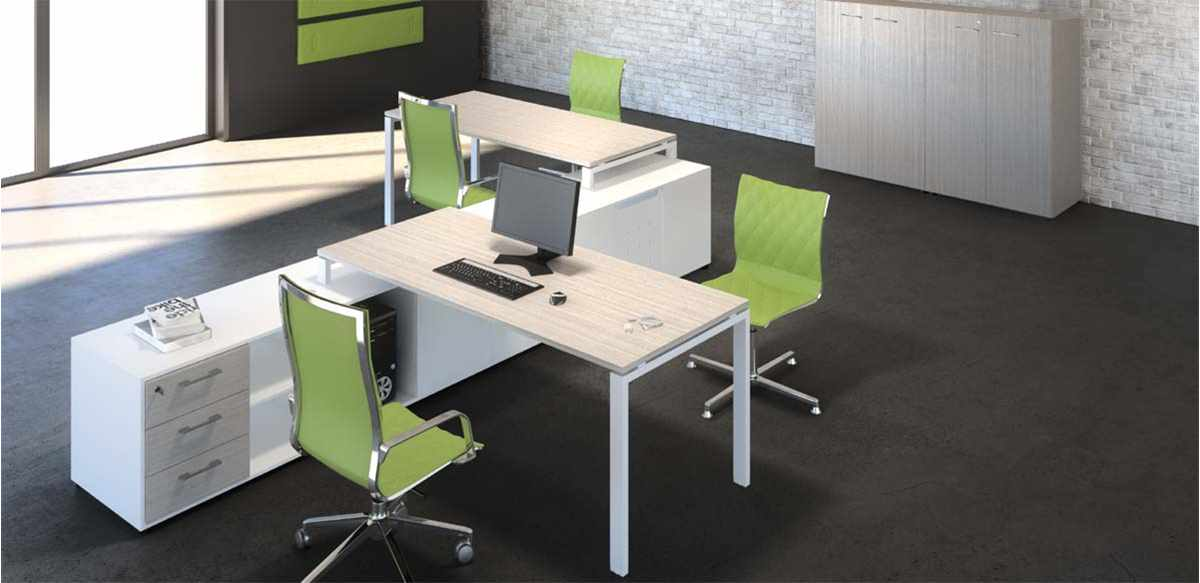 Mobili per ufficio doppia postazione ufficio con mobili for Arredamento per ufficio moderno