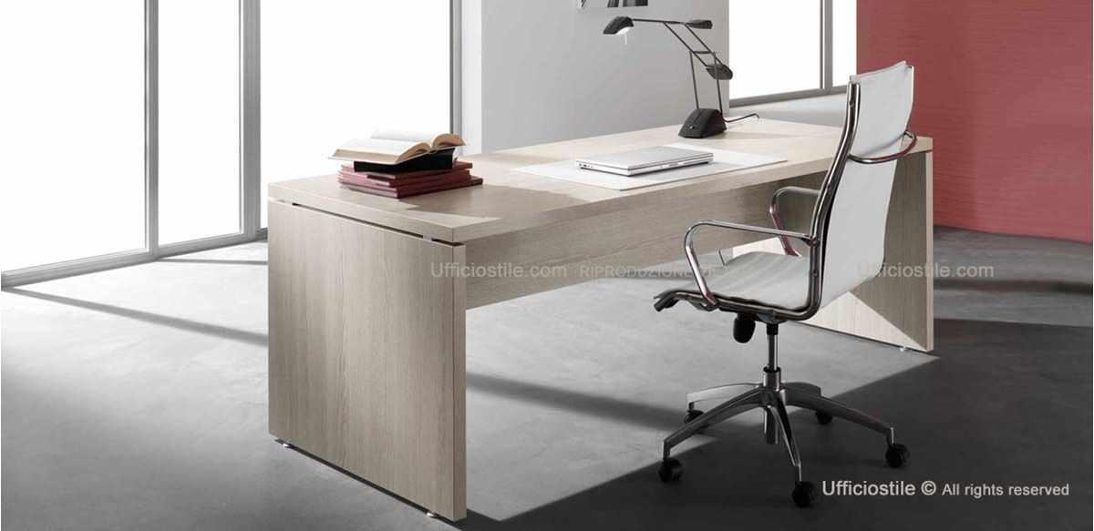 Mobili per ufficio scrivania direzionale spessore 38 mm for Mobili ufficio wenge