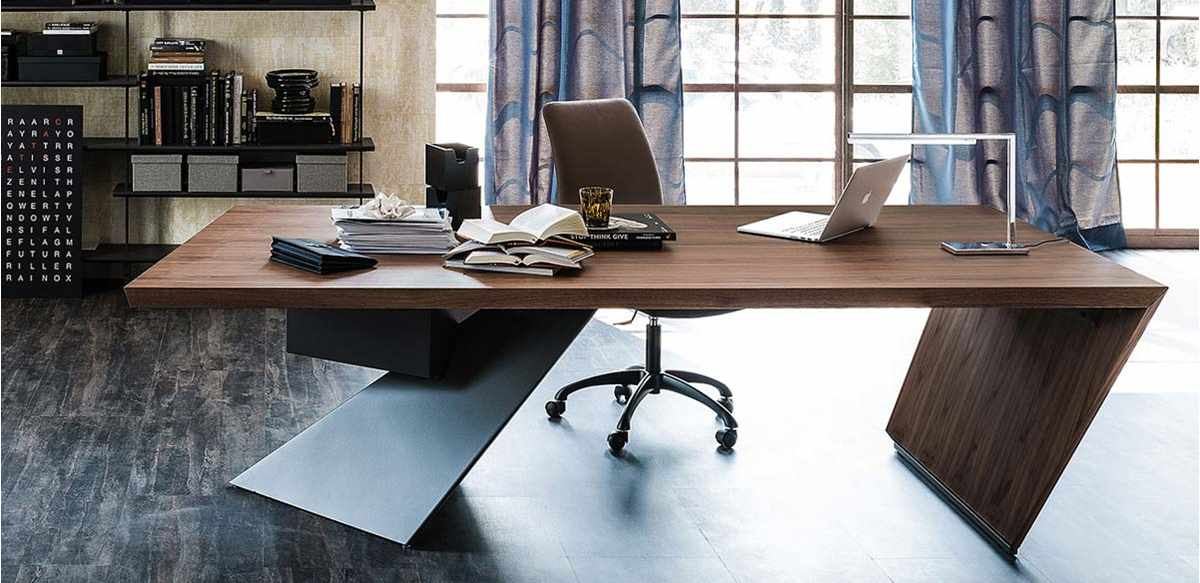 Scrivania legno design nas for Mobili ufficio outlet