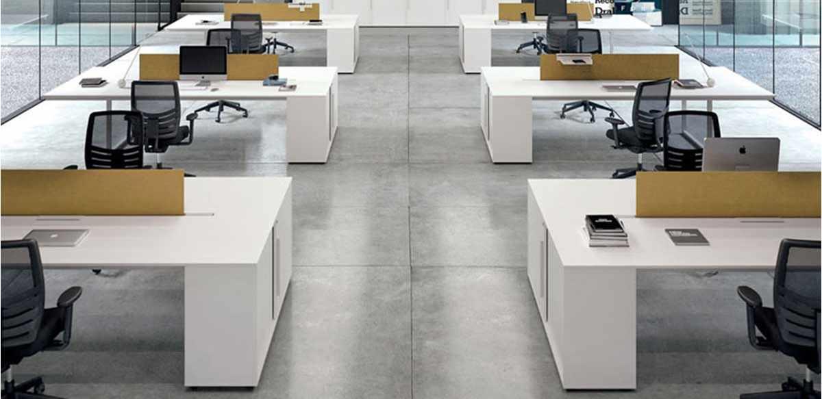 Mobili Per Ufficio Esempio Arredamento Open Space Linea Be