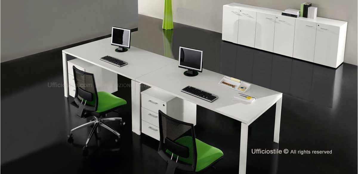 Mobili per ufficio due scrivanie con cassettiere e for Cassettiere design per ufficio