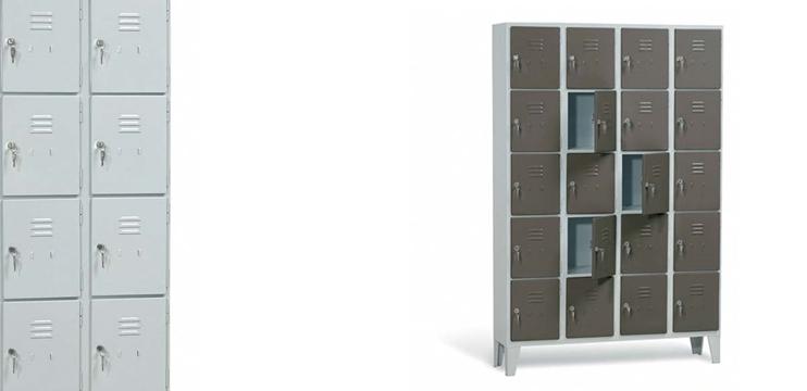 Mobili per ufficio armadio casellario in metallo 12 scomparti - Portaoggetti armadio ...