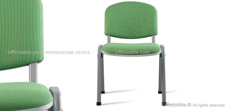 Mobili per ufficio sedia con bracciolo acciaio e for Sedia ufficio alta
