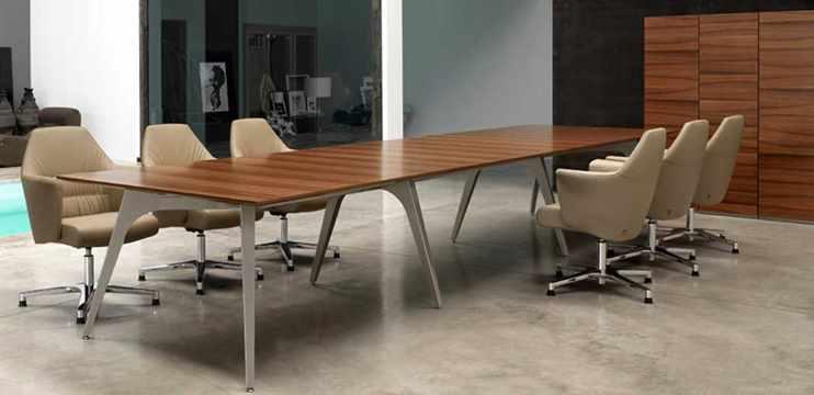 Tavoli riunioni legno impiallacciato prezzi visibili for Tavolo legno noce nazionale