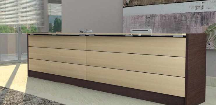 Reception banconi ufficio mir lineari e colorati for Bancone ufficio